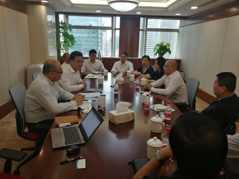 集团领导会见上海益智医疗控股有限公司董事长黄俊一行
