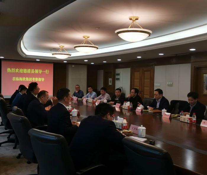 德清县领导一行莅临bwinchina官网集团考察指导
