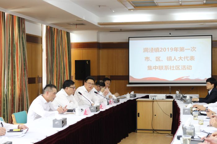 洞泾镇开展2019年第一次市、区、镇人大代表集中联系社区活动